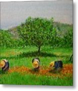Ladies In Poppy Fields Ibiza Metal Print
