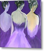 Ladies In Purple Metal Print