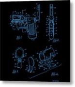 Ladies Pistol Compact Patent Art Metal Print