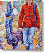 Lady  And Dog Metal Print