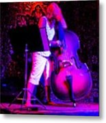 Lady And Her Bass Metal Print