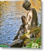 Lady And Water Metal Print