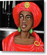 Lady At The Candelabra Metal Print