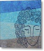Lady Blue Metal Print
