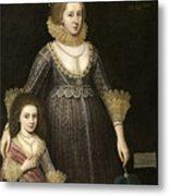 Lady Cavendish Later Countess Metal Print