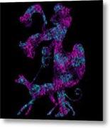 Lady Dog Walker Transparent Background Metal Print