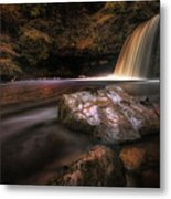 Lady Falls Waterfall Country Metal Print