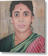 Lady From India Metal Print
