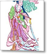 Lady He Of The Eight Immortals Metal Print