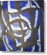 Lady In Blue Metal Print