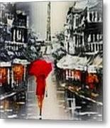 Lady In Paris Metal Print