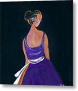 Lady In Purple Metal Print