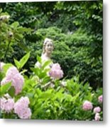 Lady In Salzburg Garden Metal Print