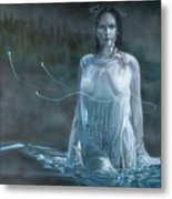 Lady In The Lake Metal Print