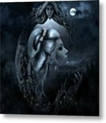 Lady In The Mirror Metal Print