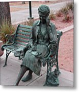 Lady In The Park Metal Print