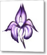 Lady Iris Metal Print