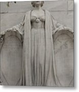 Lady Liberty On Alamo Monument Metal Print