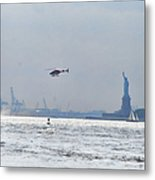 Lady Liberty's Typical Day Metal Print