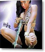 Lady Lightning  Metal Print