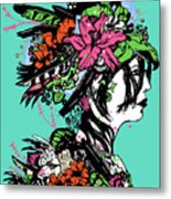 Lady Of The Garden Metal Print