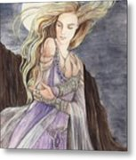 Lady Of The Moon Metal Print