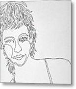 Lady On A Line Metal Print