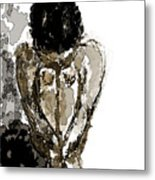Lady Sitting Metal Print