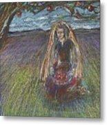 Lady Under A Tree Metal Print