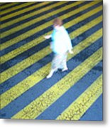 Lady Walking Metal Print