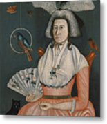 Lady With Her Pets. Molly Wales Fobes Metal Print