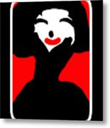 Lady With The Red Lips Metal Print
