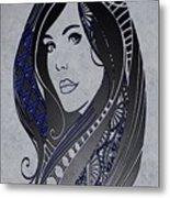 Lady Zen Metal Print