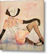 Ladyinhat03 - Watercolor Metal Print