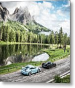 Laferrari And Gt3rs In The Dolomites Metal Print