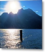 Lago Di Garda At Sunset View Metal Print
