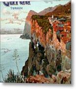 Lago Di Garda Lake Garda Vintage Poster Metal Print