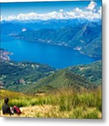 Lago Maggiore Italy Switzerland Metal Print