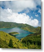 Lagoa Do Fogo Metal Print