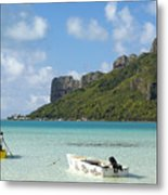 Lagoon At Maupiti Metal Print