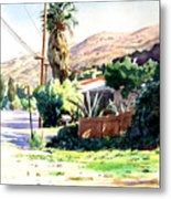 Laguna Canyon Palm Metal Print