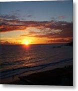 Laguna Golden Sunset Metal Print