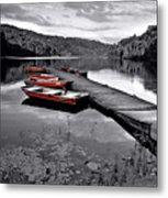 Lake And Boats Metal Print
