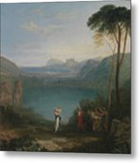 Lake Avernus - Aeneas And The Cumaean Sybil Metal Print