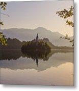 Lake Bled At Sunrise Metal Print