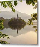 Lake Bled In The Morning Metal Print
