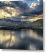 Lake Bled Sunset Metal Print