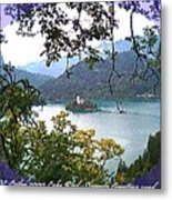 Lake Bled.slovenia.greeting Card Metal Print
