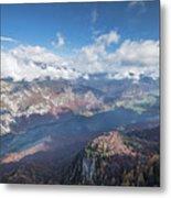 Lake Bohinj From Mount Vogel Metal Print