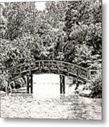 Lake Bridge Metal Print